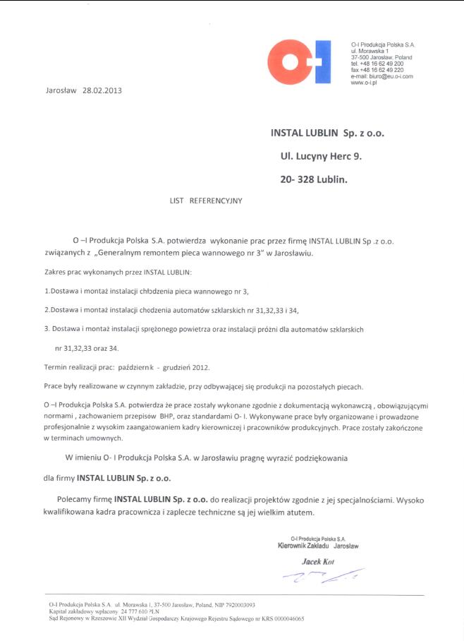 O-I Produkcja Polska S.A.