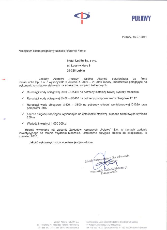 """Zakłady Azotowe """"Puławy"""" S.A."""