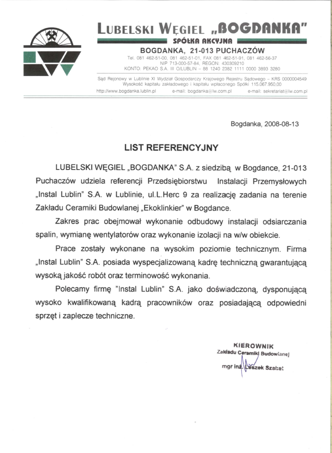 """Lubelski Węgiel """"Bogdanka"""" S.A."""