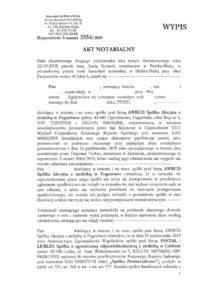 Akt Notarialny z dn. 22.10.2019r. - Statut Spółki
